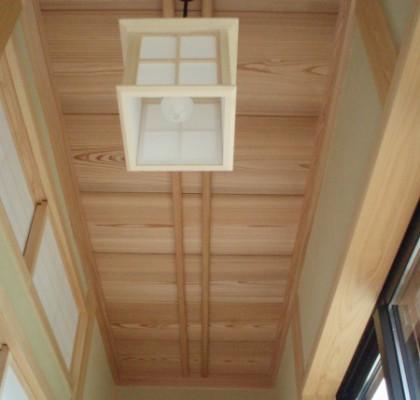 縁側 土佐杉の天井板